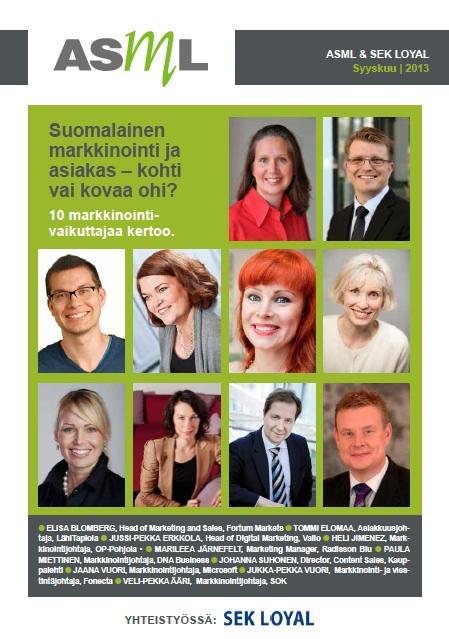 SuomalainenMarkkinointi_ASML_SEKLoyal_Syyskuu2013